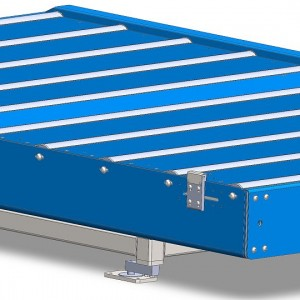 3d model of the packing line conveyor