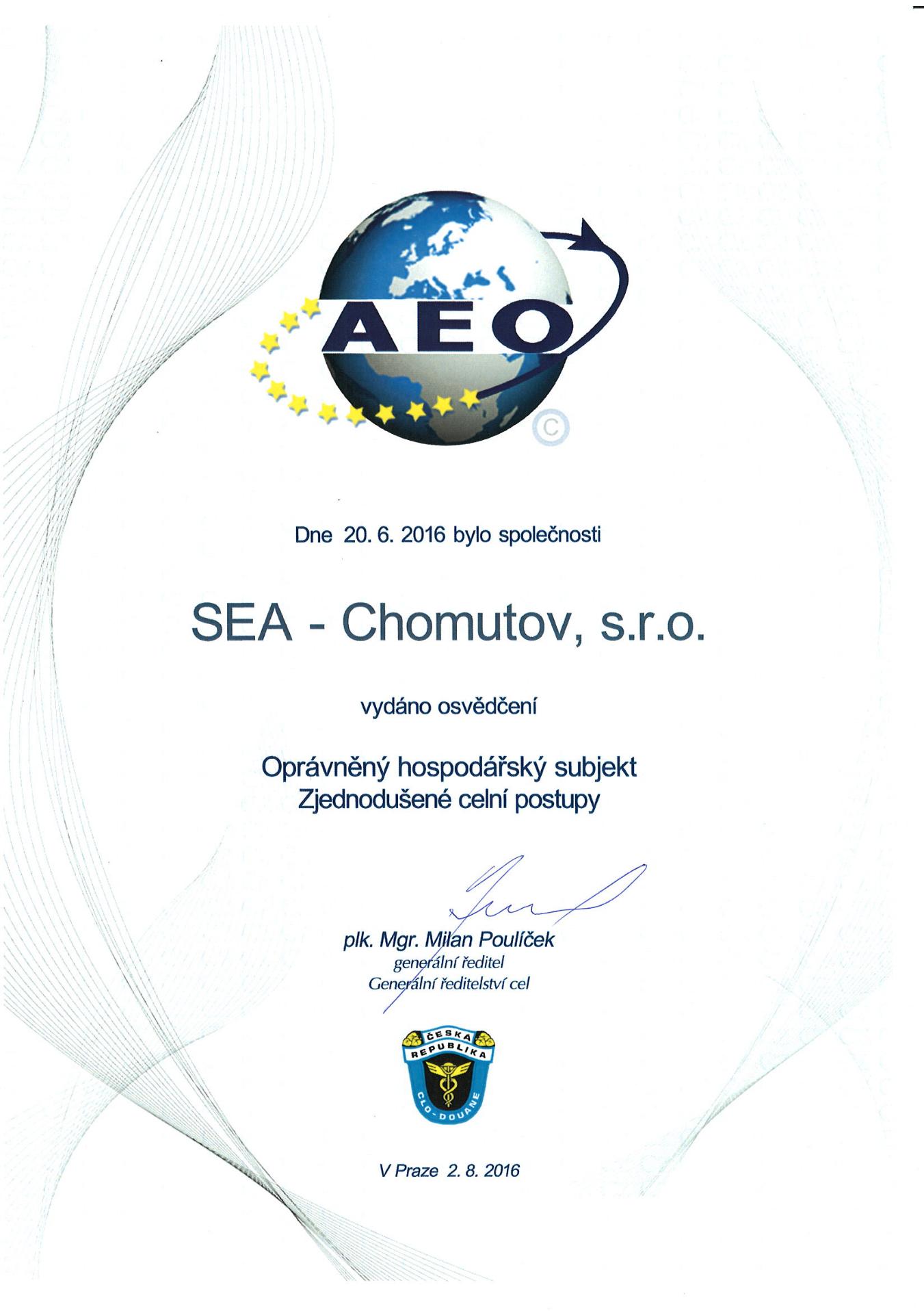 Certifikát AEO