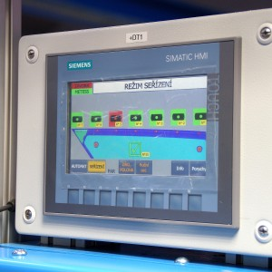 Heat stake riveting - operator panel
